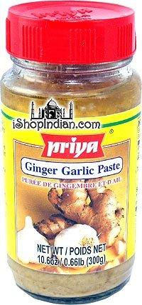 Priya Ingwer-Knoblauch Paste - Ginger-Garlic paste - 300 G
