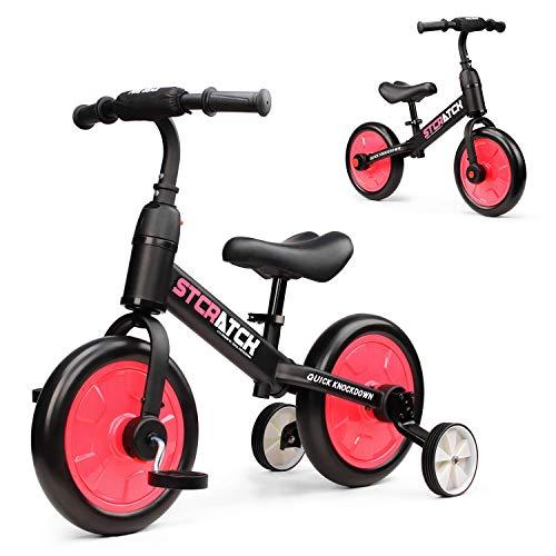 🥇 Fascol 3 en 1 Bicicleta de Equilibrio para 1-6 Años Niños