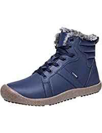 Womens Mens Snow Boots Winter Fur Boots Waterproof Ankle Bootie Casual Shoes