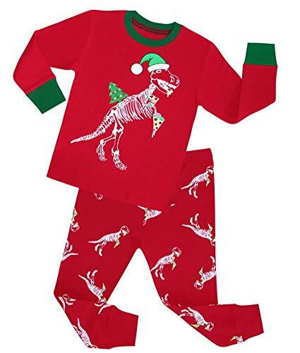 - MaxKids Santa Claus Printed Pajamas Children Cotton Clothes Sleepwear Kids Pj Pants Set