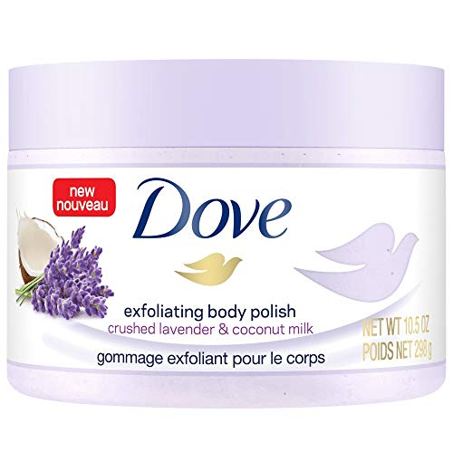 Dove Exfoliating Body Polish Crushed Lavender & Coconut Milk, 10.5 oz