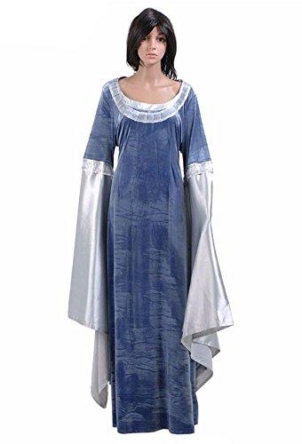 Yangxiao Womens Blue Dress Halloween Uniform Cosplay Costume (Woman-L, Blue)