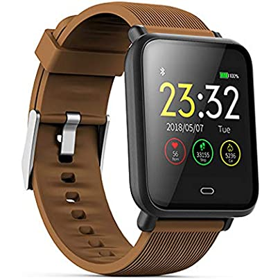 LDDCUTE Fitness Tracker Smart Watch Activity Tracker Sports Band Bracelet Waterproof Bluetooth Wristband with Heart Rate Monitor Pedometer Sleep Monitor Calorie Step Counter Brown Estimated Price -