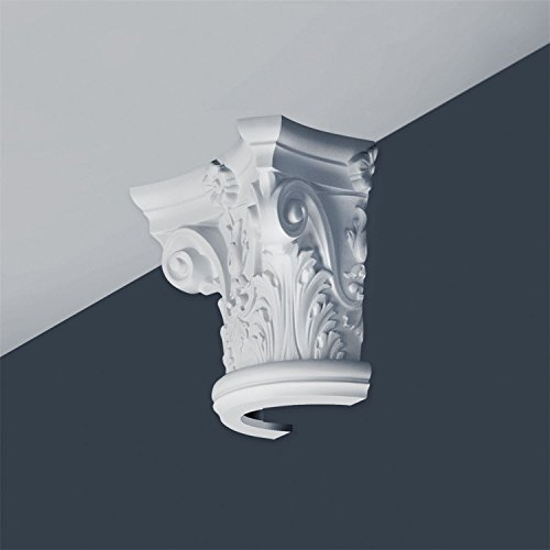 Half Column Capital Stucco Decoration Orac Decor K1121 LUXXUS made of rigid polyurethan foam impact resistant by Orac Decor