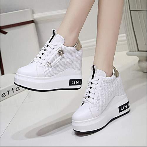 Black PU Sneakers Mujer Blanco Flat Heel Summer de ZHZNVX Zapatos Negro Poliuretano Comfort q7tOtax4