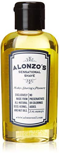 - Alonzo's Sensational Premium Natural Shaving Oil for Men | Works as Moisturizing Pre Shave/After Shave/Beard Oil for Face Body & Head | Smooth Pre-Shave 2oz