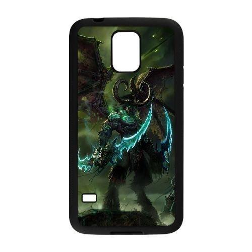 samsung_galaxy_s5 phone case Black World of Warcraft WOW Illidan Stormrage OOR1441204