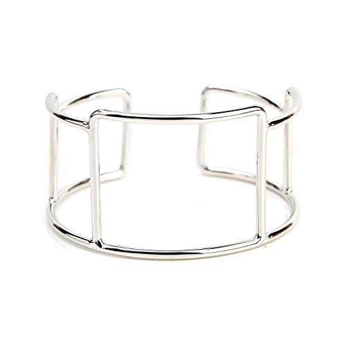 Stylish Designer Bangle Bracelet Cuff with Contemporary Geometric (Contemporary Cuff Bracelet)