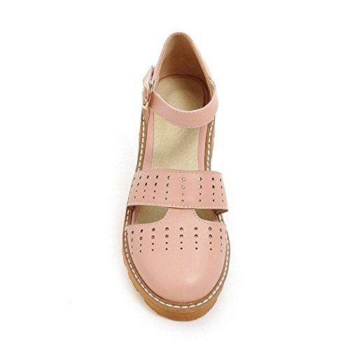 COOLCEPT Zapatos Moda Sin Cordones Dedo Del Pie Cerrado Bombas Zapato En aumento para Mujer (32 EU, Black)