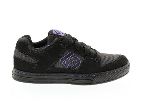 Five Ten Freerider Women's Flat Pedal Shoe: Black/Purple 8 by Five Ten