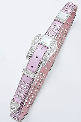 THE JEWEL RACK RHINESTONE STUDDED BELT (Pink) by The Jewel Rack