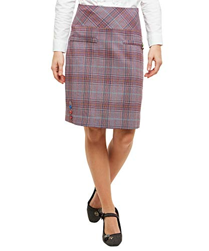 Joe Browns Femme Mini-Jupe  Carreaux Mode Violet