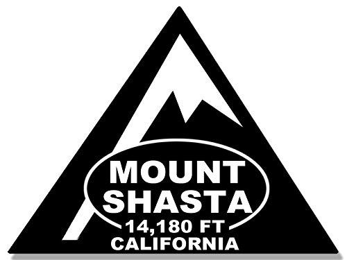 TRIANGLE Shaped MOUNT SHASTA Sticker (rv climb hike ca (Climb Sticker)