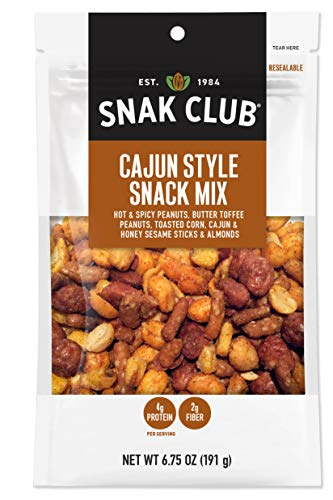 Snak Club All Natural Cajun Style Snack Mix, 6.75-Ounces, 6-Pack