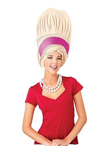 BUYSEASONS Big Beehive Foam Wig Adult Costume Brown ()