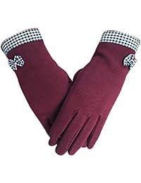 Women's Winter Screentouch Thick Warmer Weather Gloves Mittens