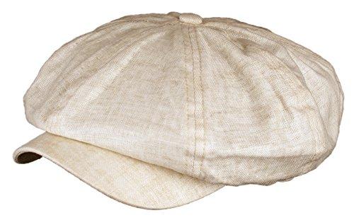 Men's Linen 8 Panel Applejack Gatsby Newsboy Ivy Hat
