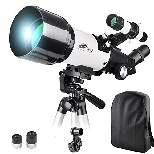 Check Out This 70x400mm Telescope for Kids and Beginners-70mm Apeture Travel Scope 400mm AZ Mount - ...