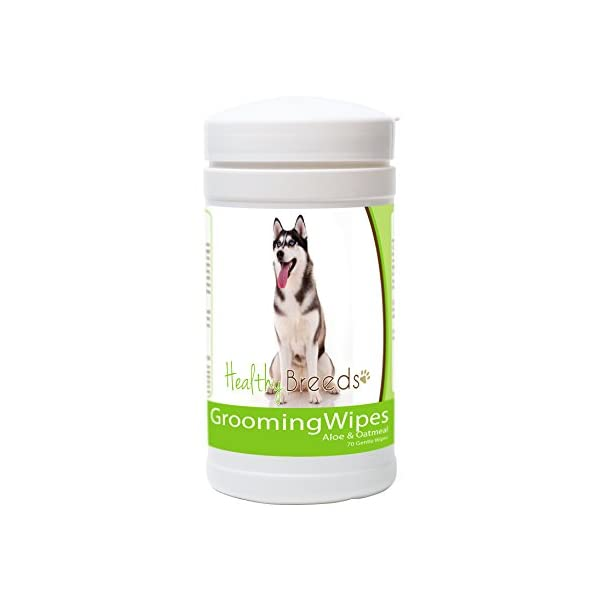 Healthy Breeds Dog Multipurpose Grooming Wipes with Aloe & Oatmeal - Over 200 Breeds - 70 Wipes 1