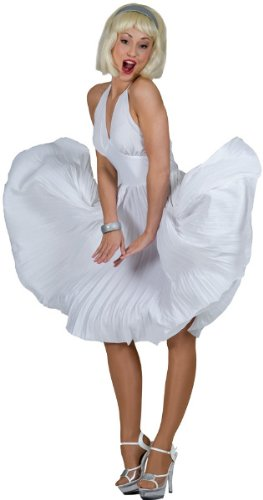 Women'S Costume: Hollywood Hottie- Small - Product Description - Modeled After The Dress Worn By Screen Icon Marilyn Monroe, This Halter Dress With Pleated Skirt Is Bound To Make Heads Turn Wherever You Go. Adult Women'S Small Fits Sizes 6-8. ...