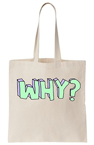 Why Tote Bag Canvas Artwork Street P0wq61S