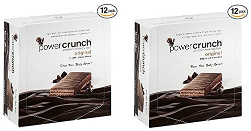 Power Crunch Triple Chocolate, 1.4-Ounce Bar , 2 Pack of 12 count
