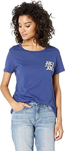 Juicy Couture Women's Juicy Triple Foil Logo Graphic Tee Regal ()