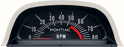 Firebird Hood Panel - OER 6468975 1969 Pontiac Firebird Hood Tachometer 5500RPM Redline For V8 Engines