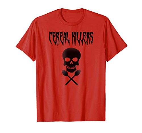 Cereal Killers Funny Fan Of Cereal Skull And Spoons T Shirt ()