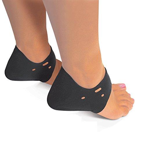 Beautyko USA Marathon Runner Endurance Enhancing Plantar Fasciitis Heel Pad for Ladies, 1 Pair, Black