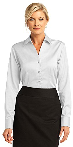 Cuff Oxford (Red House Ladies French Cuff Non-Iron Pinpoint Oxford, Medium, White)