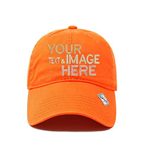 Custom Embroidered Hat Polo Style Unisex Adjustable Unstructured Cotton Cap Your Own Text