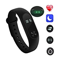 true store M2 Fitness Band with Heart Beat and Pedometer Sensor for Smartphones(Black)