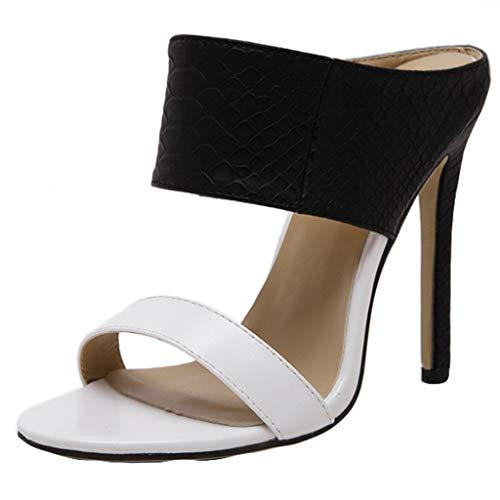 Womens Slingback High Heel -Pumps Stilettos Sandals Dress Single Band Party Shoes Black