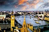 London Skyline England Travel Photo Poster (24 x 36 inches)