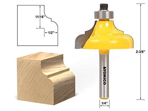 Yonico 13186q 1/2-Inch Classical Ogee Edge Forming Router Bit 1/4-Inch -