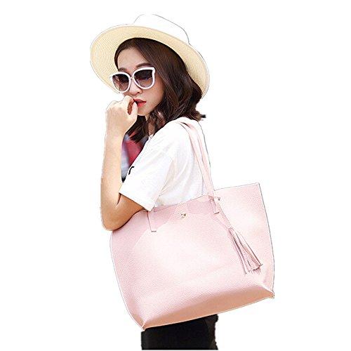 Nappe In Kword Pelle Borsa Spalla Bag Borsetta Donne Shopping Borse Tote Grigio Elegante Ragazze IIwRZq