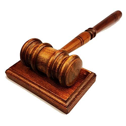 Gavel & Sound Block - Handmade Wooden Lawyers Judges Gavel - 11