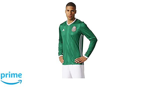64daeb6443b Amazon.com : adidas MEXICO NATIONAL SOCCER TEAM 2016 COPA AMERICA MEN'S HOME  LONG SLEEVE JERSEY (Small) : Sports & Outdoors