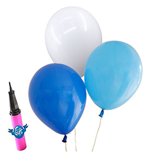 100 light blue balloons - 7