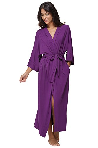 KimonoDeals Women's Soft Sleepwear Modal Cotton Wrap Robe...
