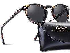 Carfia Vintage Round Polarized Sunglasse...