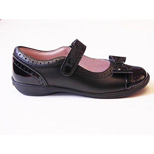Lelli Kelly LK8212 (LP01) Gabriella Black Leather School Dolly Shoes F Fitting-31 (UK 12.5)