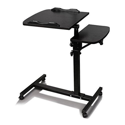 TANGON Mobile Laptop Desk Cart Laptop Rolling Cart Table Height Adjustable Notebook Computer Stand - Cart Rolling Computer