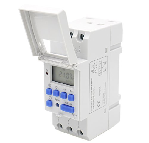 V Digital LCD Power Programmable Timer Time Switch Relay 16A Amp ()