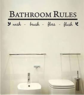 Delicieux Bathroom Wall Art Decal Sticker Funny Kids Reminder Decoration ,Bathroom  Rule Wash