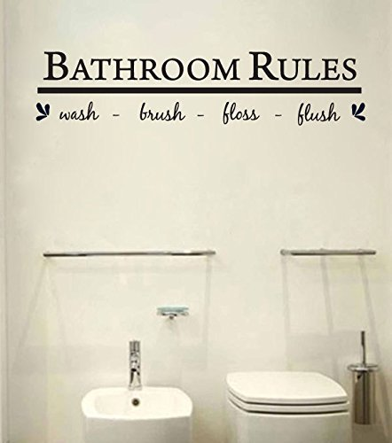 Bathroom decal sticker Reminder Decoration product image