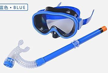 Hivel Ninos Gafas Buceo Submarino Set de Snorkel Mascara Tubo Respirador - Azul