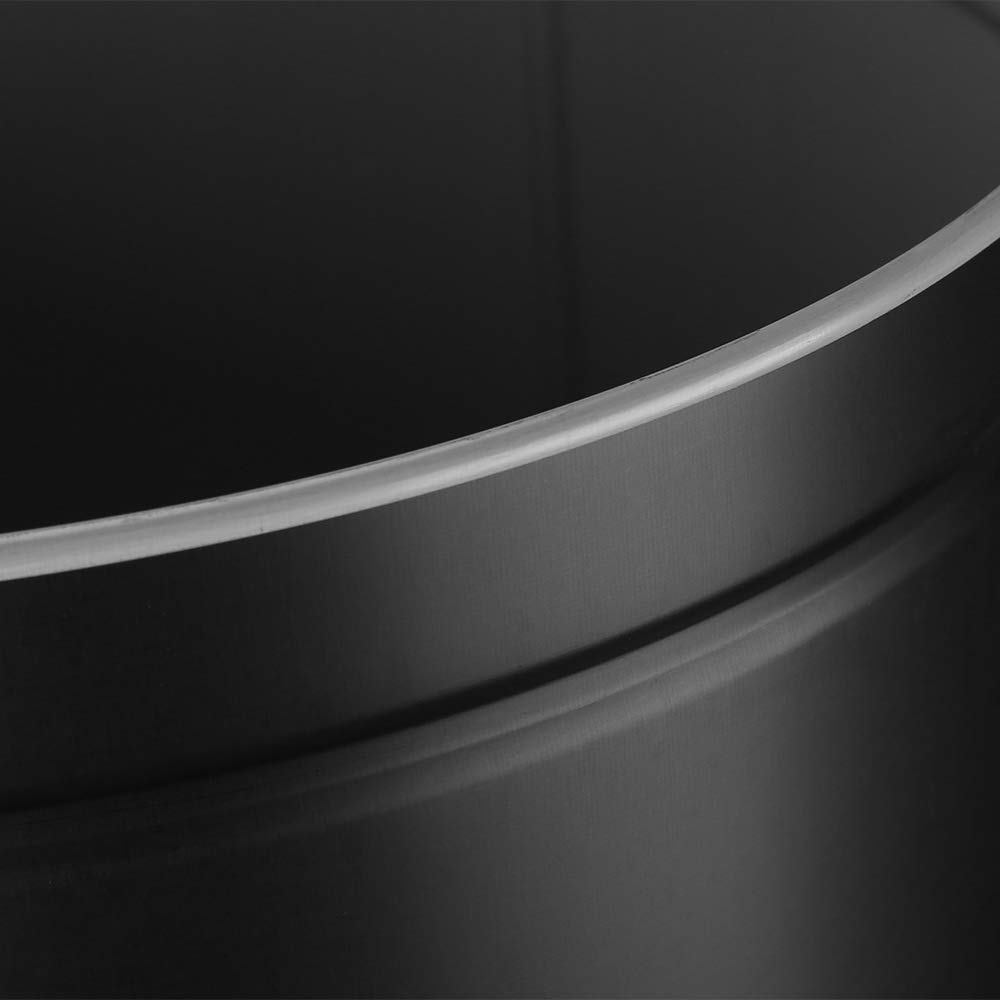 WIS Cubo de Basura con Sensor para Apertura Autom/ática Sensor de Movimiento Infrarrojo sin contacto 30L Negro Bote de Basura Inteligente de Acero Inoxidable
