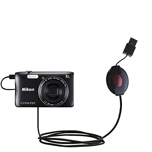 USB Power Port Ready retractable USB charge USB cable wired specifically for the Nikon Coolpix S3700 and uses TipExchange